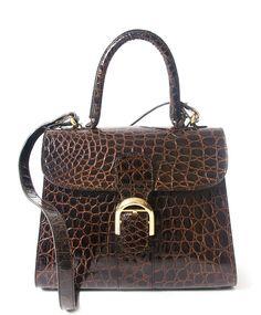 02aa03dc23d636 Delvaux Brown Croco Brillant MM Delvaux Brillant, Buy And Sell, Bag Sale,  Fashion