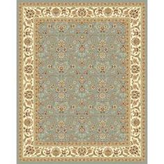 @Overstock - Add a touch of beauty to any room with this Oriental floor rug by Lyndhurst. Featuring a light blue background and ivory border, this traditional rug boasts a lovely floral design that includes a variety of panel colors to enhance its aesthetic appeal.http://www.overstock.com/Home-Garden/Lyndhurst-Floral-Motif-Greyish-Blue-Ivory-Rug-9-x-12/5300600/product.html?CID=214117 $327.19