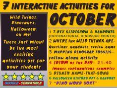 First Day Of School Activities, Summer Activities, Student Images, Halloween History, Disney Names, Grades, Word Sorts, Interactive Activities, Teaching Materials
