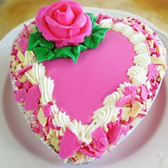 Pink Champagne Heart Cake