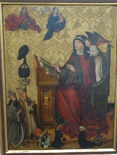 Hl. Brigitta, Meister des Landauer Altars, um 1483  Germanisches Nationialmuseum, Nürnberg