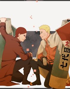 Gaara told Naruto that when he became Hokage they'd join forces... Gaara the kazekage of the sand and Naruto the hokage of the leaf... Them joining forces is the best thing ever!!