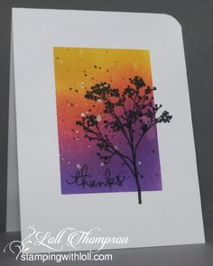 Today is the start of the CAS Mix Up November Challenge . I& thrilled to have two new teammates joining CAS. Watercolor Birthday Cards, Watercolor Cards, Distress Ink Techniques, Embossing Techniques, November Challenge, Penny Black Stamps, Thanks Card, Anna Griffin Cards, Making Greeting Cards