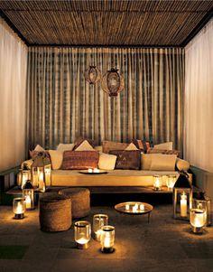 Summertime. Cabaña at Skybar, Shore Club South Beach, Miami, Florida. Interior Design—Tim Andreas, 2003.