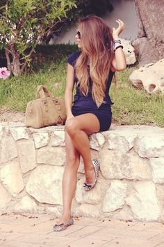 We say the hair completes the outfit.  #blonde #balayage #ombre I Tumblr