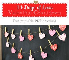 Valentine Countdown - Free printable | Holly Brooke Jones