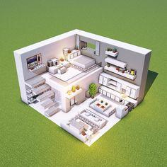 Modern Minecraft Houses, Minecraft House Plans, Minecraft Mansion, Minecraft Cottage, Minecraft House Tutorials, Minecraft Room, Minecraft House Designs, Minecraft Tutorial, Minecraft Architecture