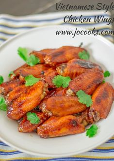 Vietnamese Style Chicken Wings – baked chicken wings marinated in a caramel sauce that is to die for. Perfect served over rice or as an appetizer. Butter Chicken Wings Recipe, Garlic Butter Chicken, Chicken Wing Recipes, Sweet And Spicy Chicken, Chicken Wings Spicy, Cooked Chicken, Asian Chicken, Chicken Meals, Chicken Thighs