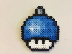 Perler bead mushroom Christmas tree ball ornament - by Bjrnbr