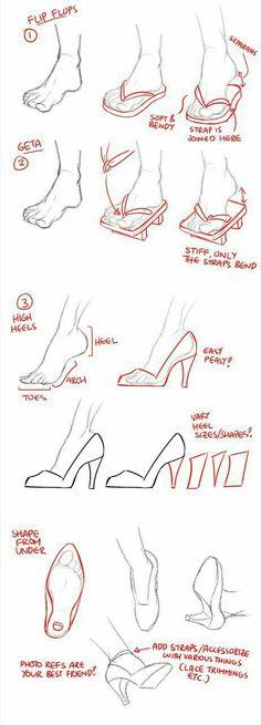 Feet, shoes, text; How to Draw Manga/Anime