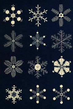 Snowflakes - could be used for embroidery or adapted for beadwork