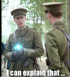 And suddenly...a Tesseract. xD Tom and Benedict in Warhorse. << nice crossover