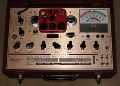 Vintage Hickok Dynamic Mutual Conductance Microhmo Vacuum Tube Tester, Model 6000A, Circa 1967.