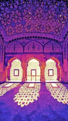 ॐ Amer Hindu Fort - Rajasthan -India. The Hindus protected India from Islamic invaders. This fort was one such protection for the Indians in the state of Rajasthan, yet is incredibly beautiful-Hinduism architecture 卐