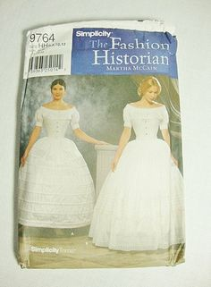 historic costume patterns | costume sewing pattern historical long petticoat crinoline hoopskirt