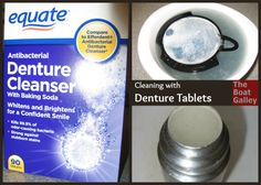 Denture tablets aren't just for dentures -- they do a great job on lots of things in the kitchen and take up almost no space!
