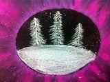 Artsonia Art Exhibit :: 4th Grade Winter Wonderland Landscapes (Hoens)