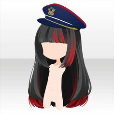 Anime hair with hat