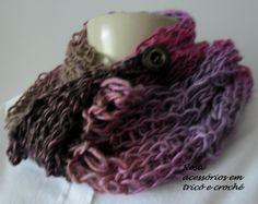 Gola de tricô- Cowl- knitting by www.rosaacessorios.blogspot.com