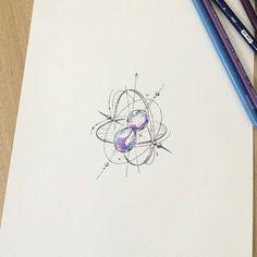 """""""캐롤린 모래시계"""" 도안✍ Sandglass design #illust #tattoo #sandglass #wonseok #캐롤린…"""