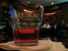 A Sazerac from the world famous Sazerac Bar in NOLA. Click for more classic New Orleans cocktails!