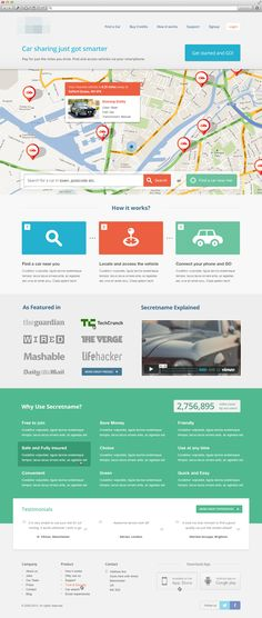 Early-stage-design - like this startup design - calm colors and very effective #webdesign