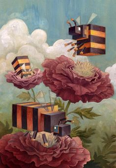 """""""Life is the flower for which love is the honey."""" - Victor Hugo I Art by Biffno"""