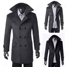 Air Force Blue Authentic Great Coat, Slim Fit - The Authentic ...