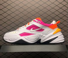 newest collection 21b16 8a6ab Buy Nike M2K Tekno White Laser Fuchsia Chunky Daddy Shoes AO3108-104