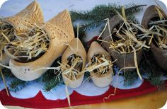 Winter ~ Advent ~ Saint Nicholas Day ~ Gifts ~ The clogs were set out in the evening with hay for Nicholas' white horse