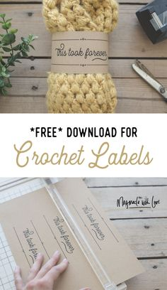 Free Download for Crochet Labels - This Took Forever Tags - Free Printable - Megmade with Love