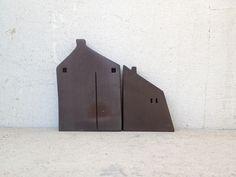 miniature ceramic and wooden houses, home decor, handmade, unique gift, Christmas gift,handmade ceramic sculpture. My etsy shop: https://www.etsy.com/il-en/shop/VesnaGusmanArt