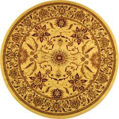 Safavieh Lyndhurst Collection Heritage Ivory/ Ivory Rug (8' Round)