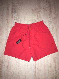 000a683ac1036 NWT Vilebrequin Swim Shorts No Pattern Solid Royal Red Size L Royal Red, Swim  Shorts