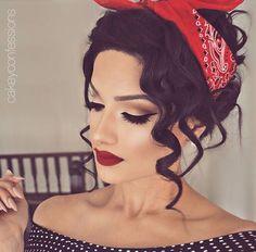 Pinup makeup...