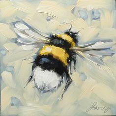 Kuvahaun tulos haulle how to paint a bee with acrylic Bee Painting, Painting & Drawing, Painting Inspiration, Art Inspo, Posca Art, Art Watercolor, Guache, Bee Art, Animal Paintings