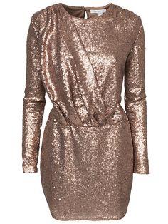 Drapy Sequins Dress - Notion 1.3 - Copper Gold - Festkjoler - Klær - Kvinne - Nelly.com