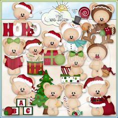 12 Bears of Christmas 1b - NE Kristi W. Designs Clip Art - Click Image to Close