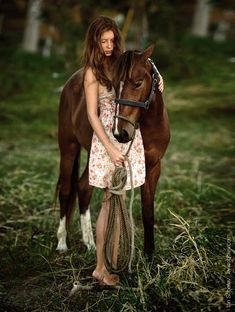 ...barefoot in a cotton dress and a horse at your side. what more could a girl want..