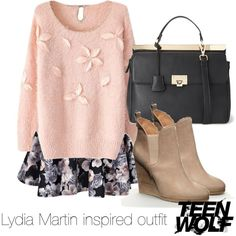 Lydia Martin inspired outfit/Teen Wolf by tvdsarahmichele on Polyvore featuring Boohoo and Forever 21