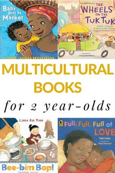 Multicultural stories for 2 year-olds that includes board books and picture books for toddlers. This can be read in a large group or individually. Preschool Books, Toddler Preschool, Preschool Activities, Family Activities, Educational Activities, Diversity Activities, Best Children Books, Toddler Books, Childrens Books