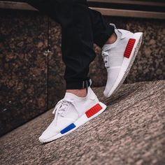 """#hypefeet: the """"Vintage White"""" @adidasoriginals NMD_R1 drops May 28 who's copping? Photo: @overkillshop by hypebeast"""