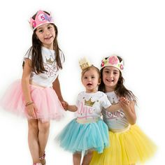 Birthday girls tulle skirts