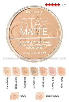 Rimmel Stay Matte Pressed Powder Foundation- I highly recommend using this in translucent as a setting powder. It is my most favorite setting powder I have found at the drugstore and the only I would recommend.
