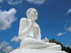 A statute of the Buddha meditating.. in Anuradhapura, Sri Lanka