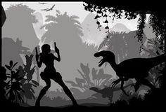 lara croft silhouette - Buscar con Google