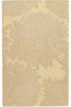 Chrysanthemum area rug - martha stewart - malted beige color