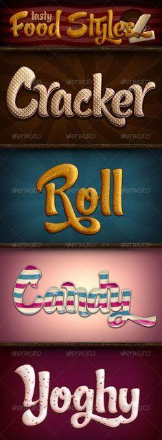 Tasty Food Photoshop Styles - Beautiful graphics free