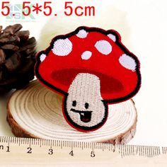 Patches Wholesale Cute Mushroom Embroidered Iron On Patches For Clothes DIY Accessory Sew On Garment Appliques Good China, Clothing Patches, Iron On Patches, Diy Clothes, Appliques, Mushroom, Embroidery, Sewing, Cute