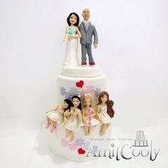 עוגת חתונה שנייה עם ילדים מנישואים ראשונים